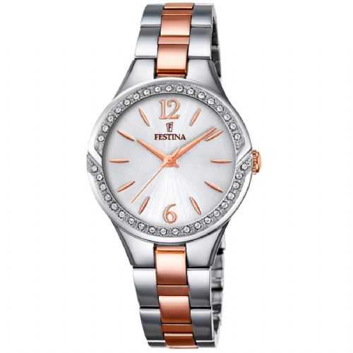 F20247/1 Festina Ladies  Watch Swarovski Crystal Set Two Tone Rose Bracelet